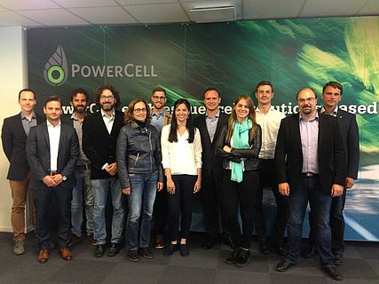 photo of the partners at the headquarters of PowerCell